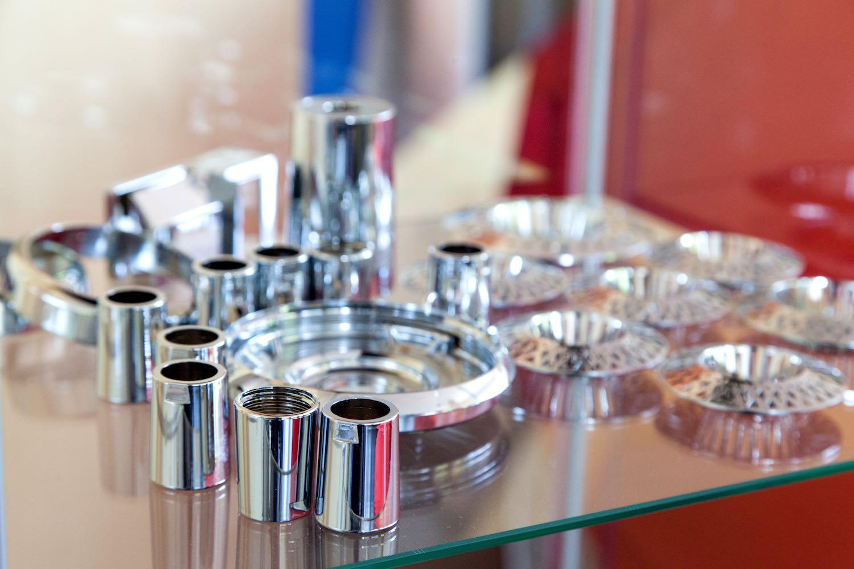 Galvanisierte Kunststoffteile von Galvanotechnik Breitungen, Beschichtungen wie Verkupfern Vernickeln Verchromen
